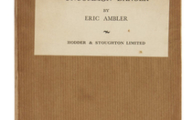 AMBLER, ERIC. Uncommon Danger. 8vo, original tan...
