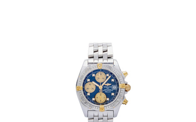 Breitling. A stainless steel automatic chronograph and bracelet