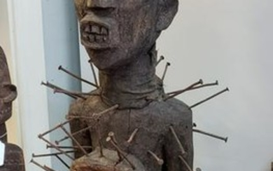 Circa 1900 Nkisi Nkondi Nail Fetish Idol Statue from