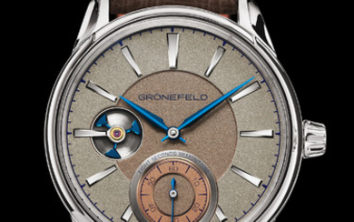 GRÖNEFELD GRÖNEFELD 1941 REMONTOIRE This 1941 eight seconds Remontoire with a constant force mechanism was created specially for Only Watch 2019. It features a unique dial with a frosted vintage look.,