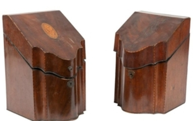 Shell Inlaid Knife Boxes - Two