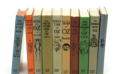 Ten Wizard of Oz Hardback Books, Nine Illustrated by