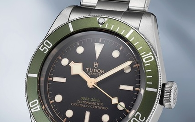 Tudor, Ref. 79230 An attractive stainless steel diver's wristwatch with green bezel and bracelet