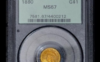 A United States 1880 Indian Princess $1 Gold Coin
