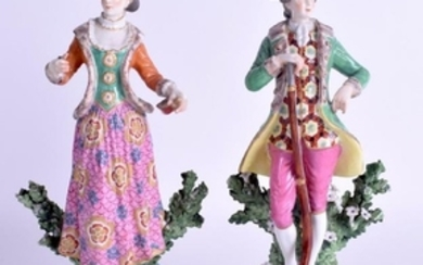 A PAIR OF 19TH CENTURY FRENCH SAMSONS OF PARIS FIGURES