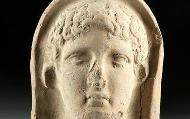 Classical Etruscan Terracotta Head of Youth
