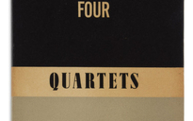 ELIOT, T.S. Four Quartets. 8vo, publisher's black...