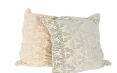 Large Chenille Damask Decorative Pillows