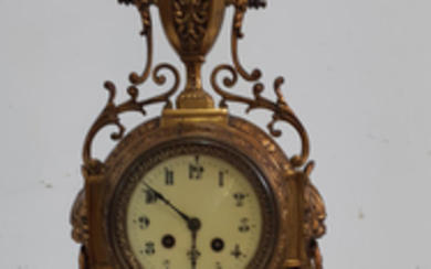 FRENCH POLISHED BRONZE CLOCK