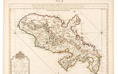 De l'Isle map of Martinique 1741