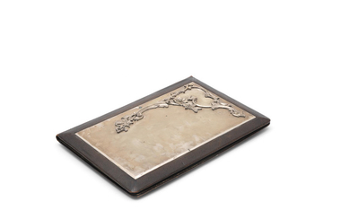 A Russian silver and leather portfolio