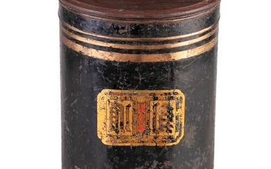 A EARLY 19TH CENTURY CHINESE TOLEWARE TEA BIN, wit…