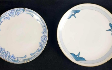 Set of 2 Royal Nippon Hand Painted Art Deco Plates