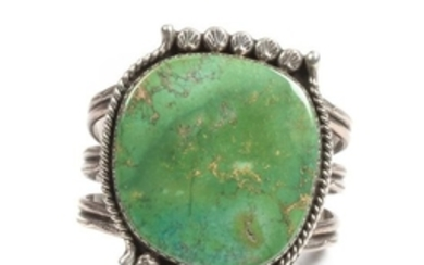 Southwestern Silver and Turquoise Cuff Bracelet