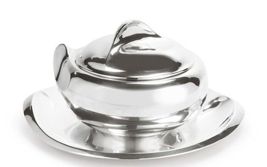 """A SILVER """"THUMB PRINT"""" PATTERN SOUP TUREEN, COVER, AND STAND, DESIGNED BY ELSA PERETTI FOR TIFFANY & CO., NEW YORK, LATE 20TH CENTURY"""
