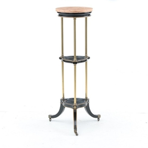 Lot Art Marble Top Three Tier Plant Stand