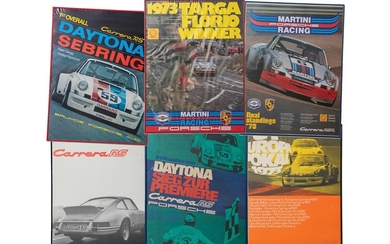 1973 Porsche 911 Carrera RS and RSR Framed Posters