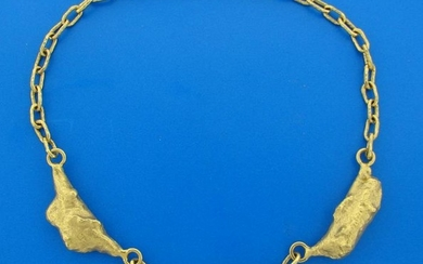 1979 JEAN MAHIE 22k Yellow Gold NECKLACE Signed