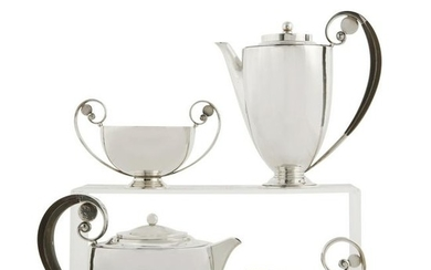 Johan Rohde Georg Jensen silver tea coffee set 321A