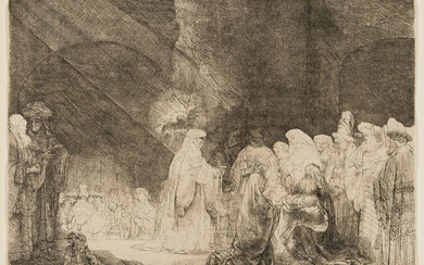 Rembrandt van Rijn (1606-1669) The Presentation in the Temple: Oblong Plate