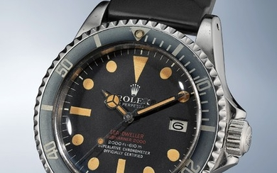 Rolex, Ref. 1665 inside case back stamped 3'567'004 A highly rare and extremely attractive stainless steel wristwatch with date, center seconds and helium escape valve