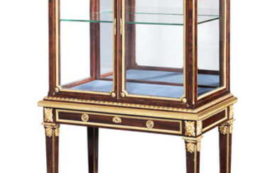 A French late 19th century mahogany and gilt metal mounted vitrine