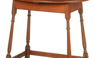 American Queen Anne Stretcher Base Tea Table