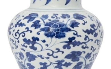 A Chinese porcelain guan, Transitional style, late...