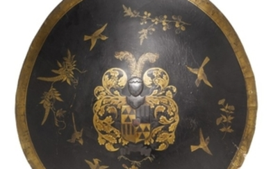 A LACQUERED SHIELD FOR THE DUTCH MARKET EDO PERIOD, MID-LATE 17TH CENTURY