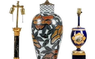 Three Lamps - French Style - Marble - Pottery