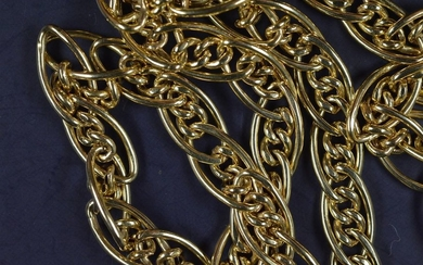 COLLIER or maille gourmette poids 15.3 g long 40 c…