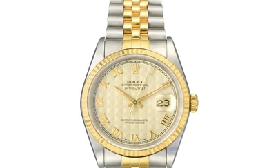 Rolex - Rolex Datejust Ref. 16233 Pyramid Dial in 18K Gold and Steel