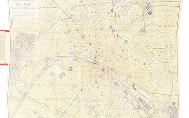 Map of Paris without the Eiffel Tower