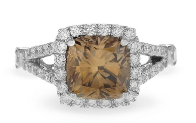 Fancy Dark Brown Diamond Ring