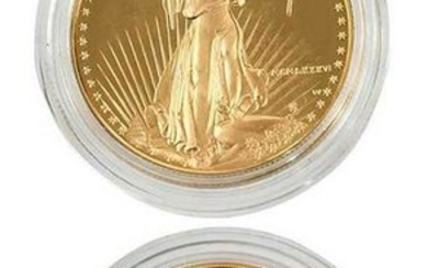Two 1986-W Proof Gold American Eagles