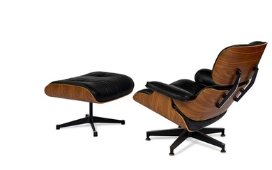 Charles Eames (1907-1978) & Ray Eames (1912-1988) for Herman Miller 670 / 671 lounge chair and ottoman chair: 33'w x 36'd x 32 1/