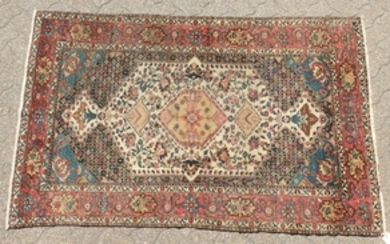 A FINE ANTIQUE SHAH ASHRAFI BAKHTIARI PERSIAN RUG with