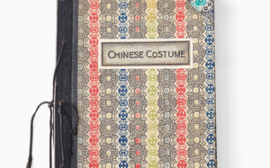 A booklet with Chinese watercolours