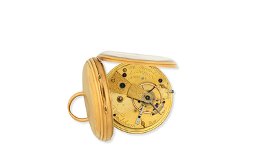 Charles Frodsham, 84 Strand, London. An 18K gold key wind open face pocket watch
