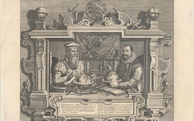"Famous Portraits of Mercator and Jodocus Hondius, ""Gerardus Mercator... Iudocus Hondius..."", Hondius"