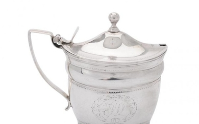 A George III silver oval mustard pot by William Abdy II