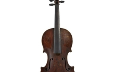 A German Violin, Early 19th Century In case Bearing...
