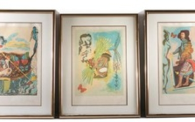 3 After Dali Prints, from Suite Ivanhoe & Tarot