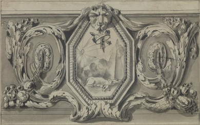 JEAN CHARLES DELAFOSSE (Paris 1734 1791 Paris) A Study for a Wall Decoration.