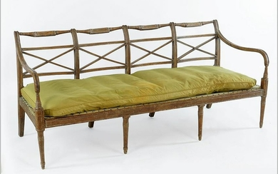 An American Early 19th Century Sheraton Pine Quadruple