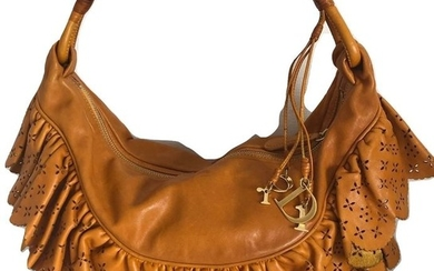 Christian Dior - Leather Gipsy ruffle hobo Shoulder bag