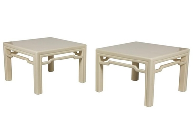 Chinese Modern Lacquer Tables - Pair