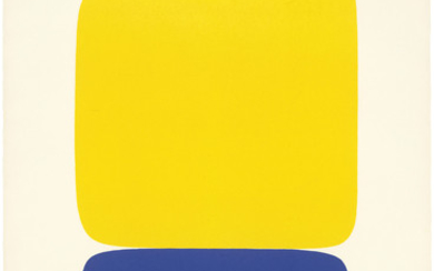 ELLSWORTH KELLY (1923-2015), Yellow over Dark Blue, Plate 19, from: Série IX