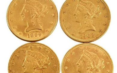 Group of Twelve, Ten Dollar Gold Coins