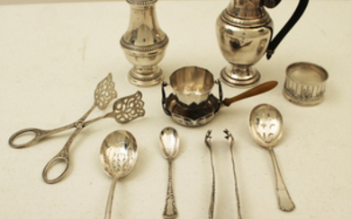 9 PC. MISC. LOT OF FRENCH SILVER RELATED ITEMS